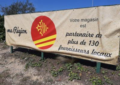 Exemple d'utilisation de la croix d'Occitanie à des fins commerciales